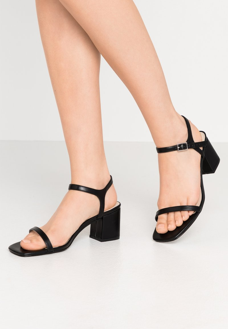 Nly by Nelly - SQUARE BLOCK HEEL  - Sandály - black