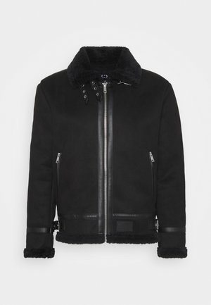 VOYAGE AVIATOR JACKET - Leather jacket - black
