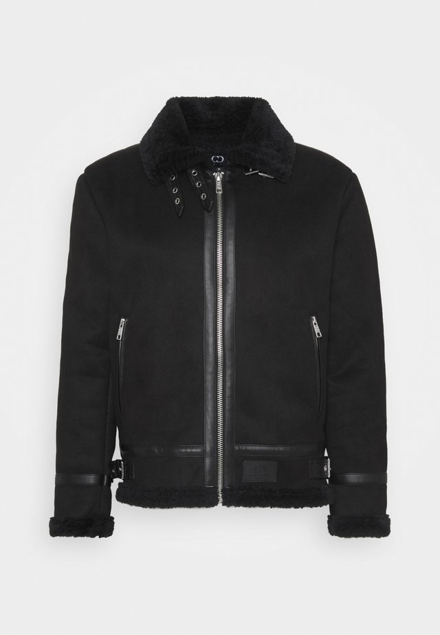 VOYAGE AVIATOR JACKET - Veste en cuir - black