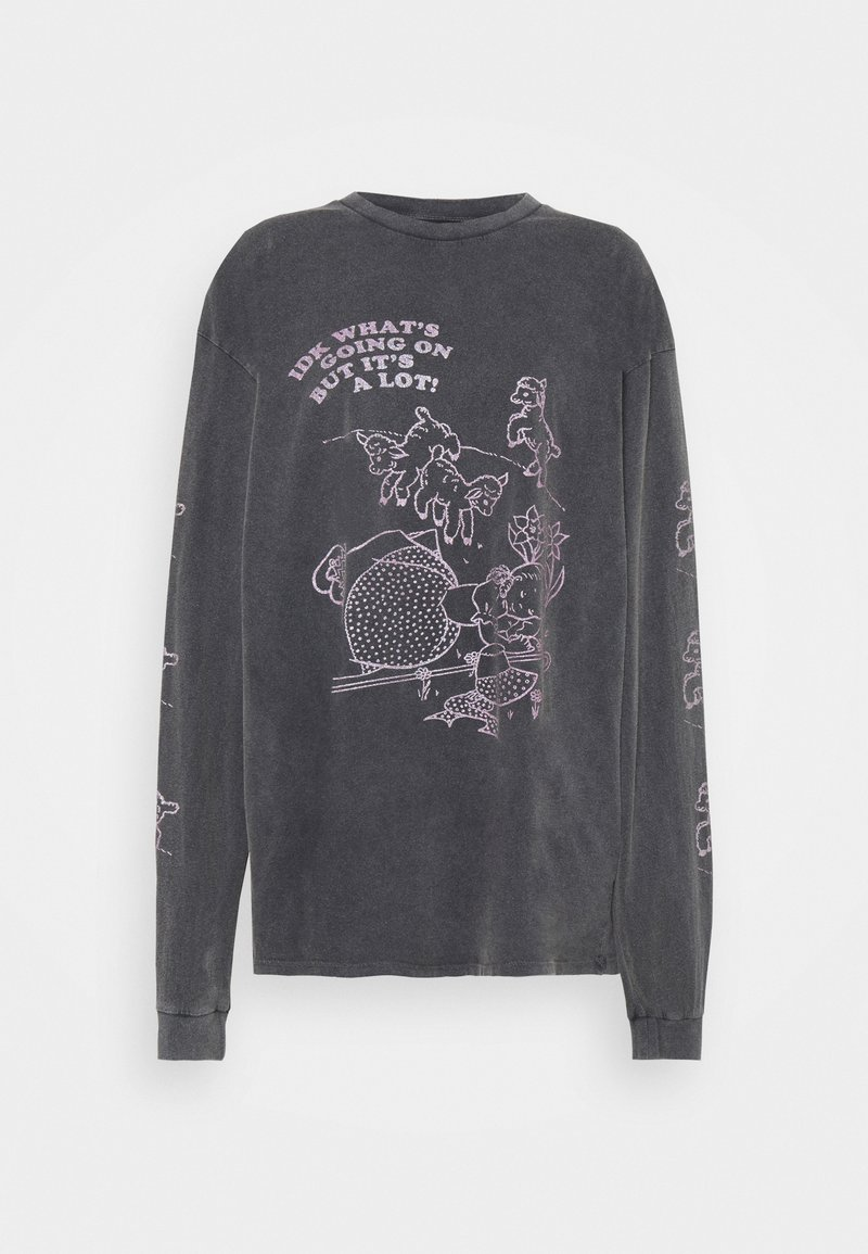 NEW girl ORDER - LITTLE LAMB TEE - T-shirts med print - charcoal