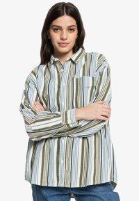 Quiksilver - Button-down blouse - surfing retreat stripe flclove - 0