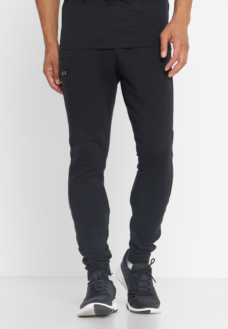 Under Armour - RIVAL  JOGGER - Tracksuit bottoms - black