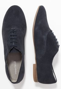 Anna Field - LEATHER FLAT SHOES LACE-UPS - Lace-ups - dark blue - 3