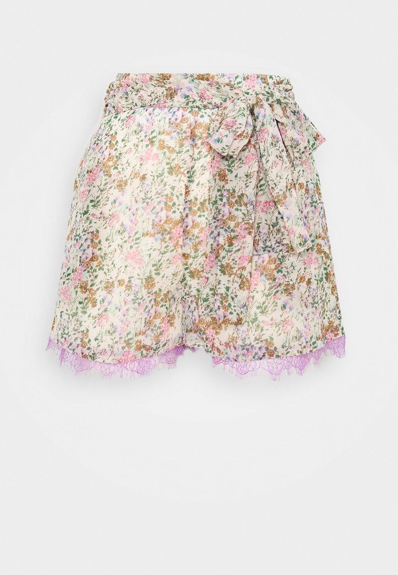 Lost Ink Petite - FLORAL PRINTED - Shorts - multi