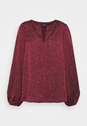 SPLIT BLOUSON  - Blouse - burgundy print