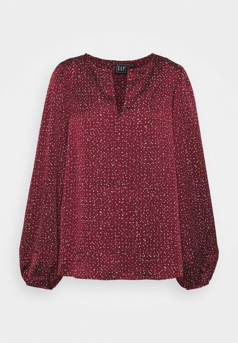 Gap Tall - SPLIT BLOUSON  - Blouse - burgundy print