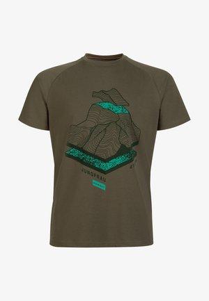 MOUNTAIN - Print T-shirt - iguana