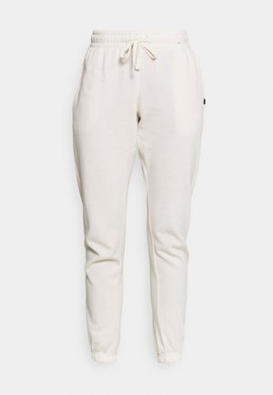 LIFESTYLE GYM TRACK PANTS - Tracksuit bottoms - buttermilk