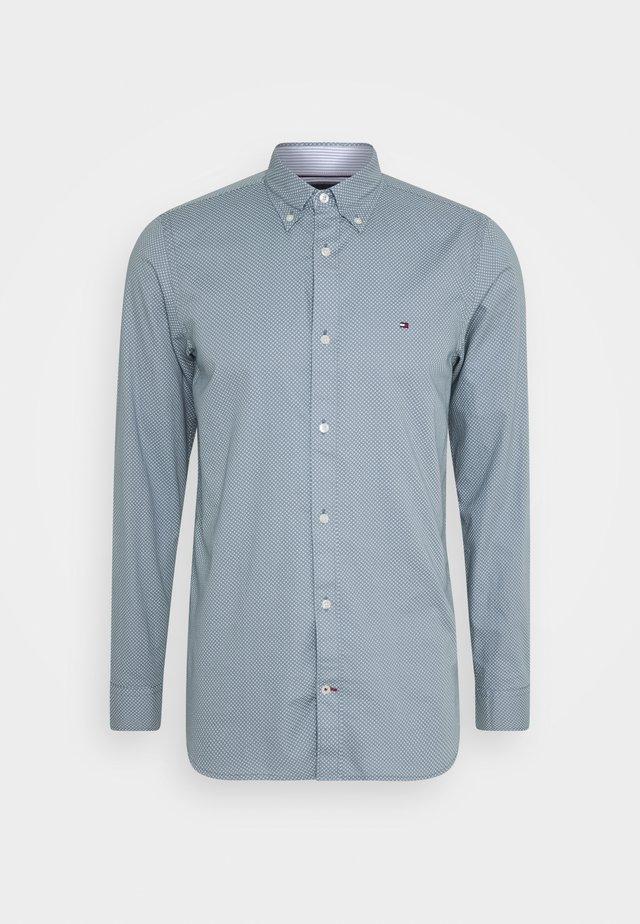 SLIM MICRO PRINT - Koszula - blue