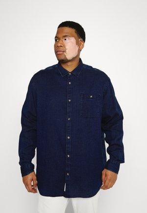 JPRBLU MIX SHIRT ONE POCKET - Shirt - dark blue denim