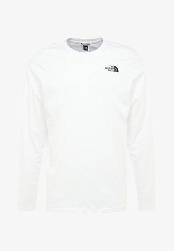 EASY TEE - Long sleeved top - white/black