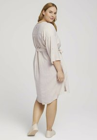 MY TRUE ME TOM TAILOR - STYLE WITH - Shirt dress - ecru shades vichy - 2