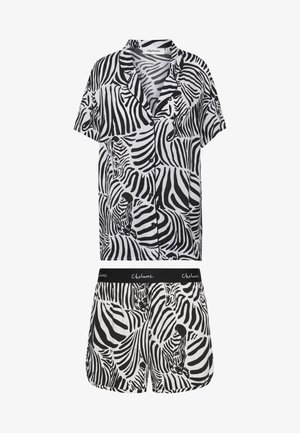 SARAH ZEBRA HERD SET - Pyjamas - white/black/multi-coloured