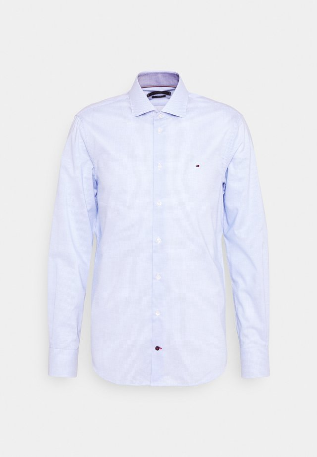 MINI CHECK SLIM FIT - Shirt - light blue/white