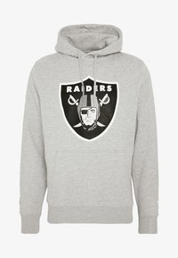 Fanatics - NFL OAKLAND RAIDERS ICONIC SECONDARY COLOUR LOGO GRAPHIC HOODIE - Bluza z kapturem - grey marl - 3