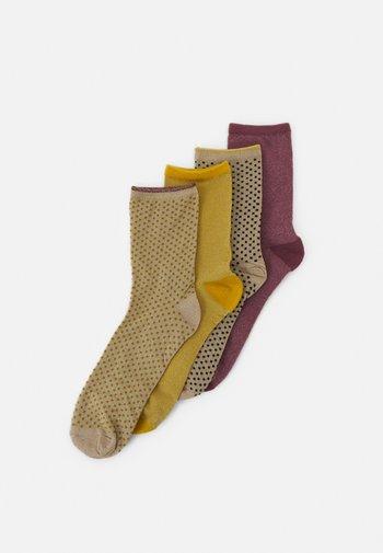 MIX SOCK 4 PACK - Socks - sand/bamboo/mauve