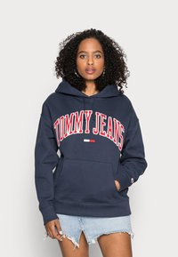 Tommy Jeans - CLASSICS LOGO HOODIE - Sweat à capuche - navy - 0