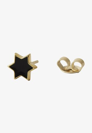 EARRING STUD ENAMEL STAR - Örhänge - gold
