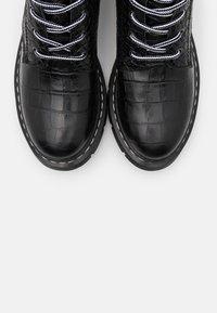 Tamaris - BOOTS - Platform ankle boots - black - 5