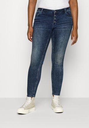 VMLYDIA - Jeans Skinny Fit - dark blue denim