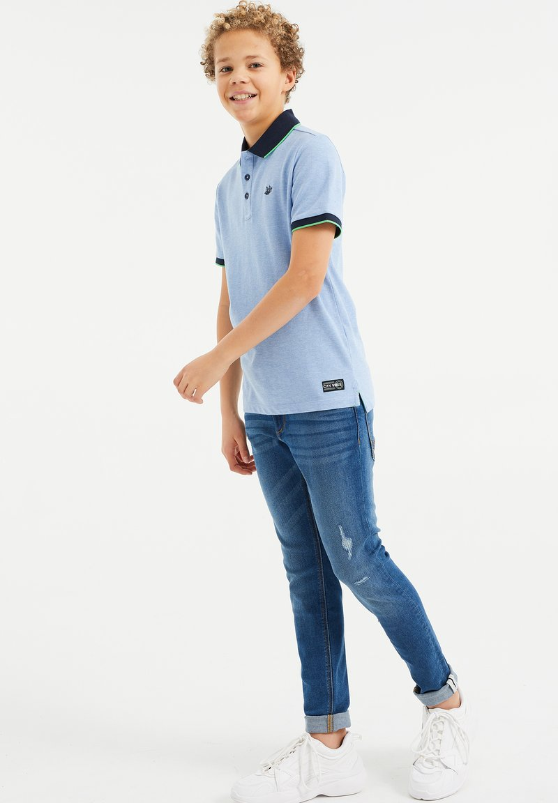 WE Fashion - Polo shirt - light blue