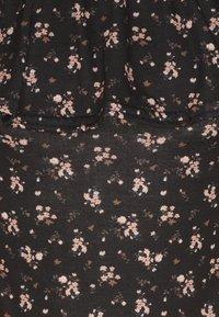 Missguided - FLORAL BARDOT FRILL TRIM BODYSUIT - Print T-shirt - black - 2