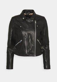 Vero Moda - VMALICIA  - Giacca di pelle - black - 4