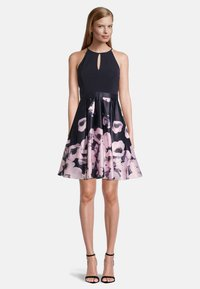 Vera Mont - MIT BLUMENPRINT - Cocktail dress / Party dress - dark blue-rosé - 0