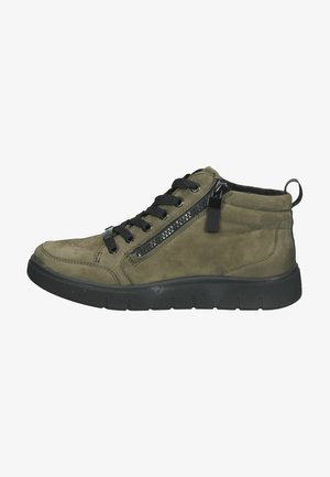 Sneakers high - oliv