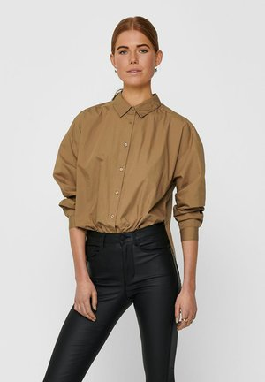 Button-down blouse - toasted coconut