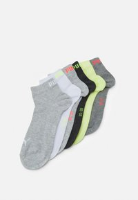 QUARTER PLAIN 6 PACK UNISEX - Sports socks - white