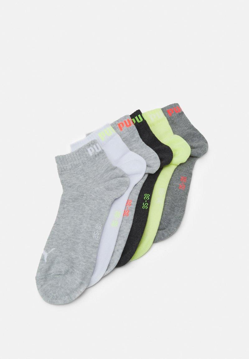 Puma - QUARTER PLAIN 6 PACK UNISEX - Sports socks - white