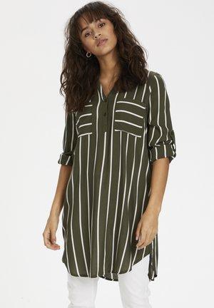 KABABARA SHIRT DRESS - Shirt dress - grape leaf/chalk stripe
