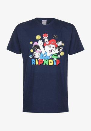 T-SHIRT NERMIO - T-shirt imprimé - navy blue
