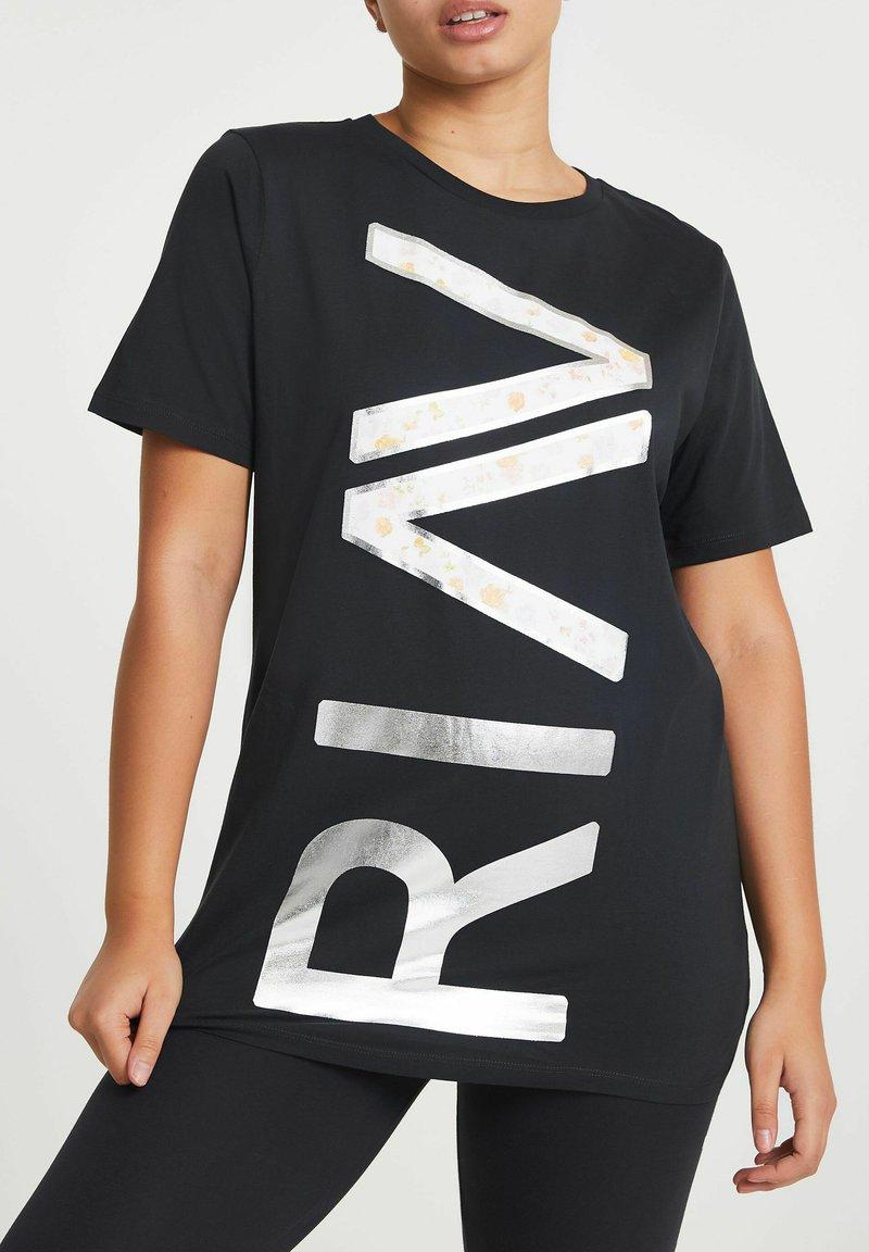 River Island - ACTIVE GRAPHIC BOYFRIEND - Print T-shirt - grey