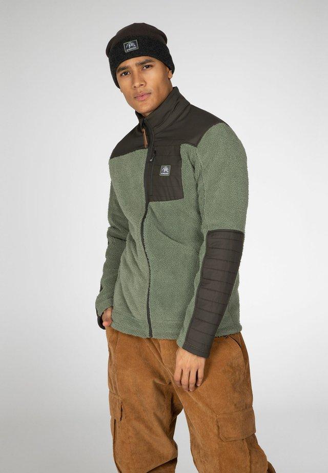 ADAM - Fleecová bunda - green spray