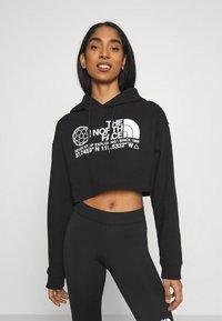 The North Face - COORDINATES CROP DROP HOODIE - Sweatshirt - black - 0