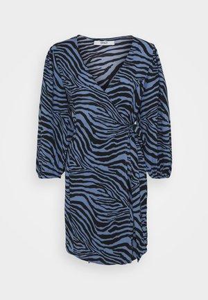 ONLJENNI WRAP DRESS - Day dress -  blue/black
