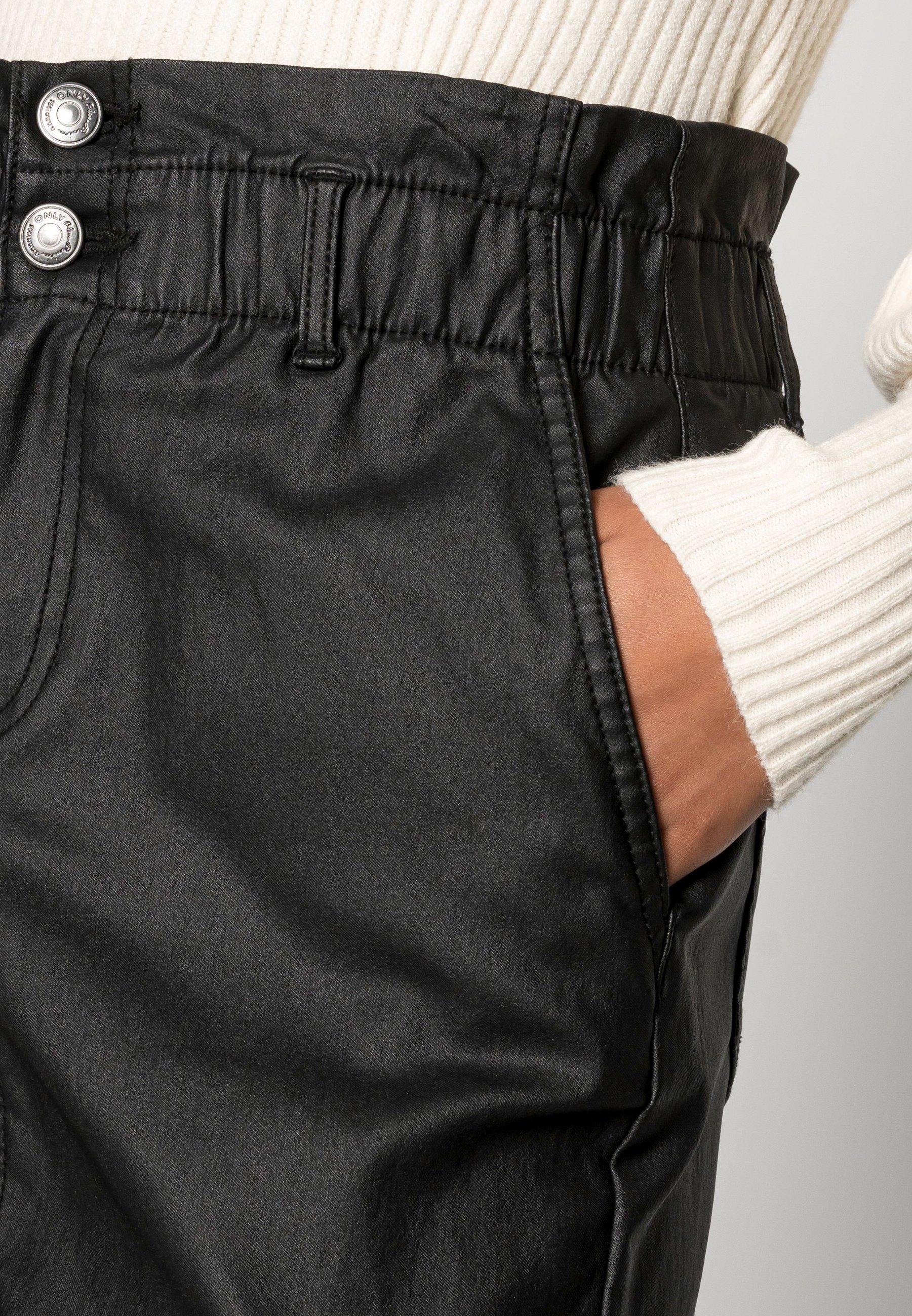 Mujer ONLBILLI COATED SKIRT - Minifalda