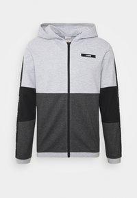 JCOKALLY ZIP HOOD - Träningsjacka - light grey melange