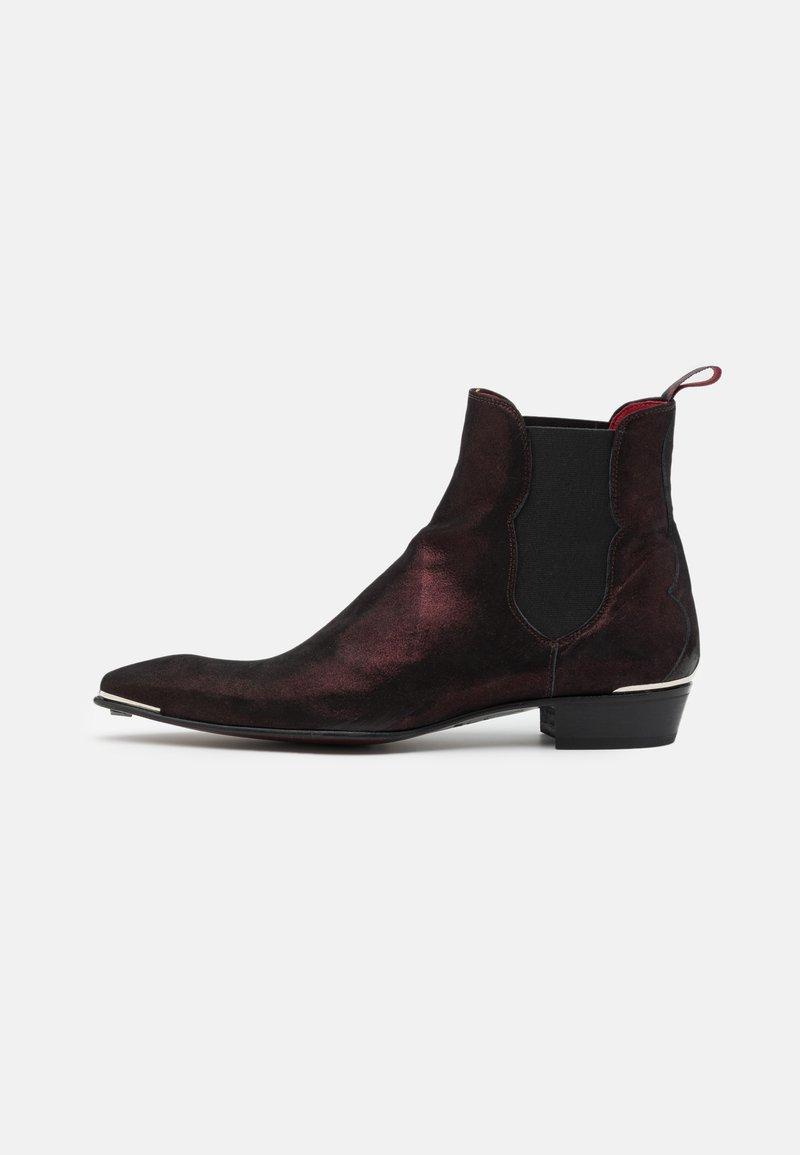 Jeffery West - MANIC PLAIN CHELSEA - Kovbojské/motorkářské boty - starry burgundy