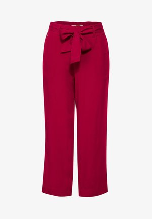 MIT WIDE LEGS - Trousers - rot