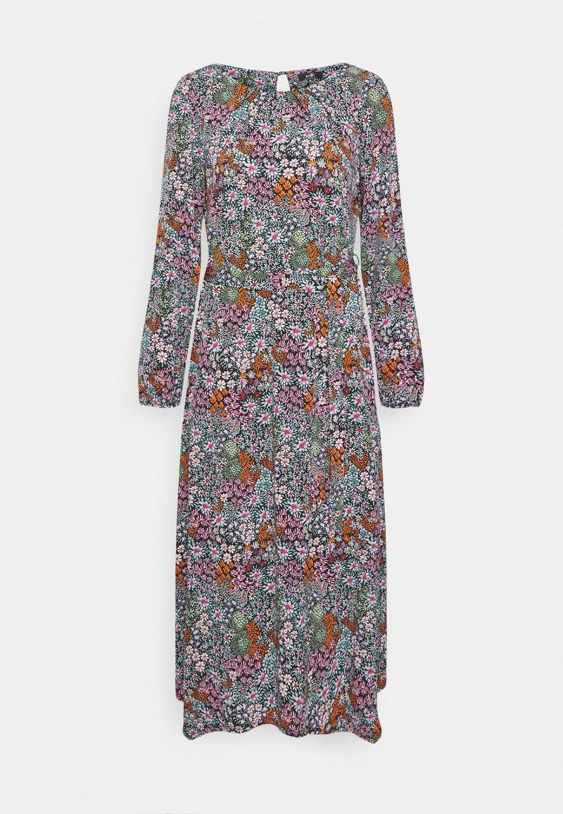 Wallis - TAPESTRY DITSY FLORAL PRINT DRESS - Jersey dress - black