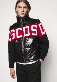GCDS - LOGO MIX PUFFER - Winter jacket - black - 4