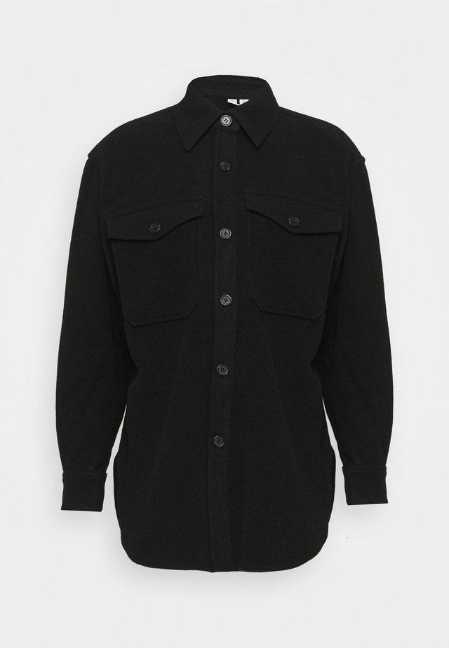JACKET - Short coat - black dark