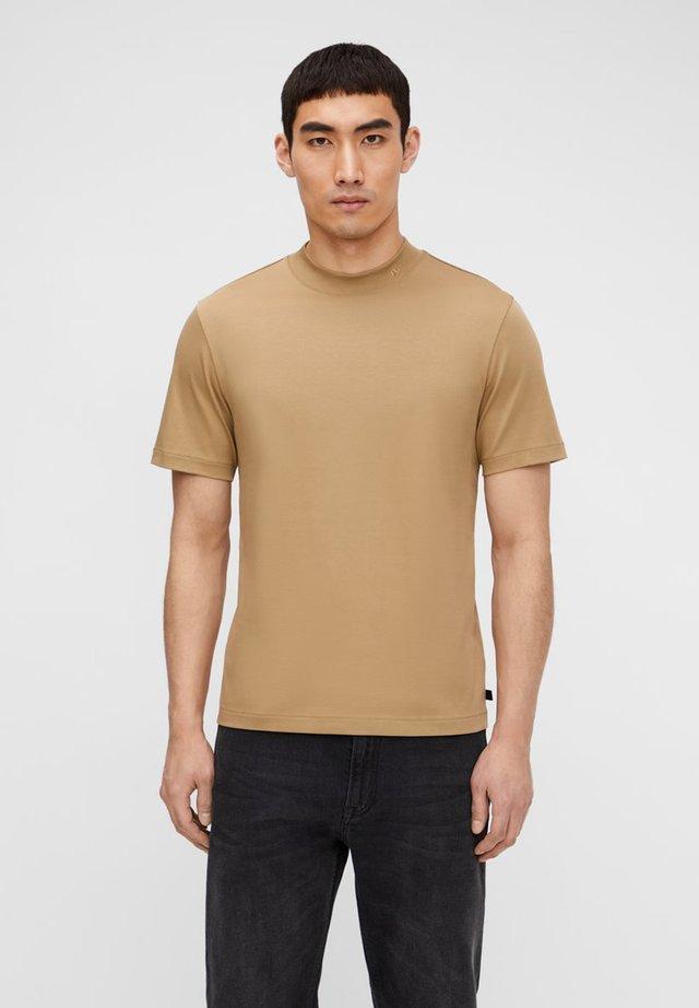 ACE MOCK NECK - T-shirt basique - wood brown
