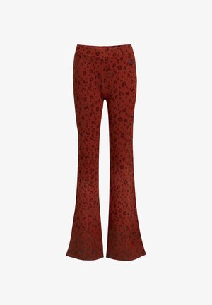 MET LUIPAARDDESSIN - Trousers - rust brown