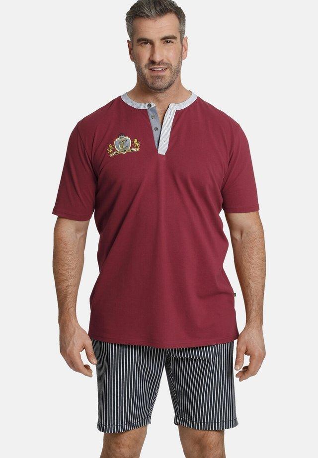 EARL TEBBE - T-shirt print - dunkelrot