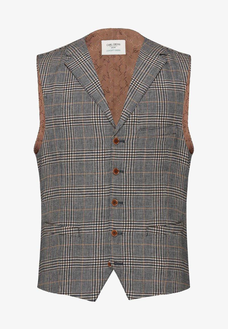 Carl Gross - Suit waistcoat - dunkelblau