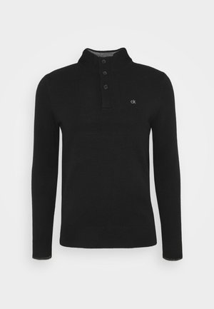 CONTRAST TRIM - Jumper - black